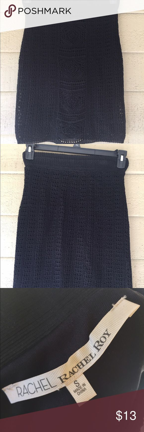 Rachel Roy Crochet Mini Skirt Body Con Amazing Rachel Roy mini skirt features intricate crochet overlay! Fits much like her body con skirts. Thank you for viewing this listing and don't forget to check out other great finds in my closet. Comments welcome! RACHEL Rachel Roy Skirts Mini