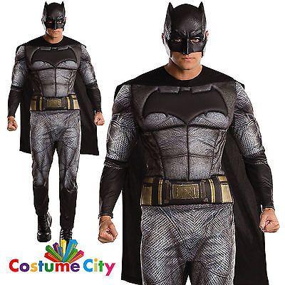 adults mens batman v superman dawn of justice deluxe batman fancy dress