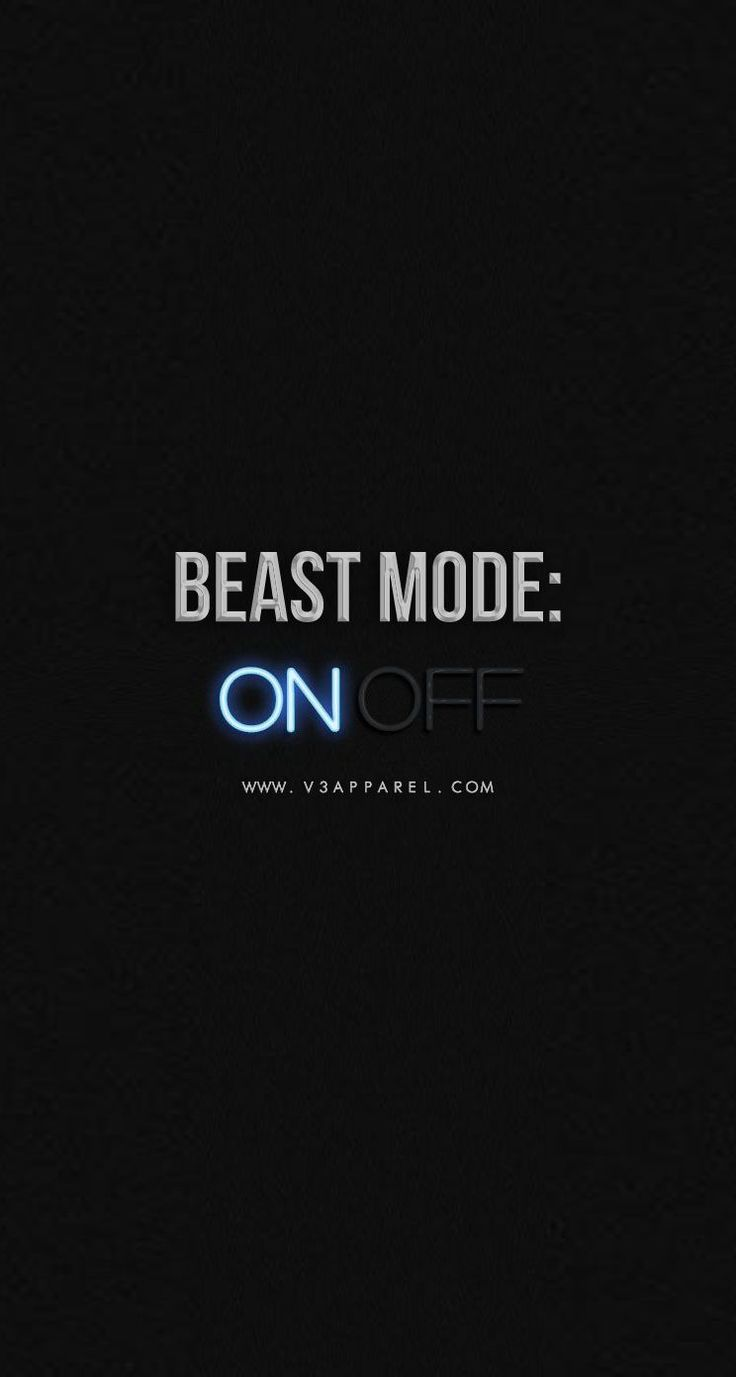 Beast mode: ON   Head over to www.V3Apparel.com/MadeToMotivate to download this wallpaper and many more for motivation on the go! / Fitness Motivation / Workout Quotes / Gym Inspiration / Motivational Quotes / Motivation