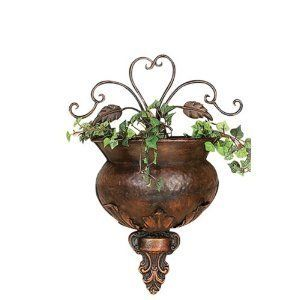 "Antiques Copper Finished Flral Wall Planter Art 12 "" by bombayjewel. $30.32. Beautiful Home Accent. Antiques Copper Finished Flral Wall Planter Art 12 """