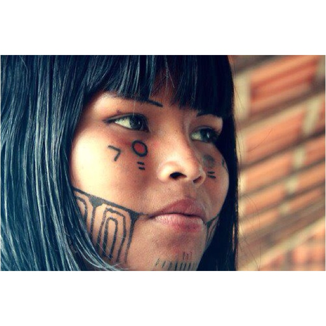 58 best images about indios on pinterest south america for Jagua tattoo amazon
