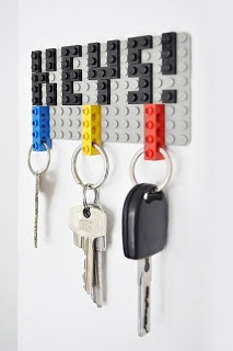 Lego Keychain Holder. Perhaps adapt to make a man's key ring??