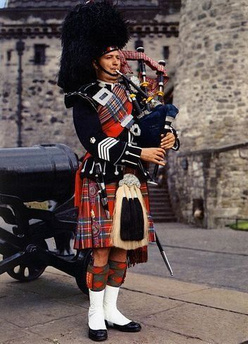 Angus MacDonald, Pipe Major of the 1st Battalion Scots ...