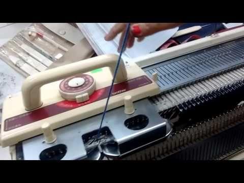 Tejido a máquina lección 10-1 - YouTube