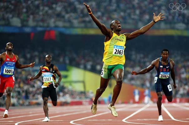 Usain Bolt in 2008 broke the world and Olympic records winning 3 gold medals.