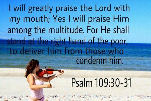 Psalm 109:30-31