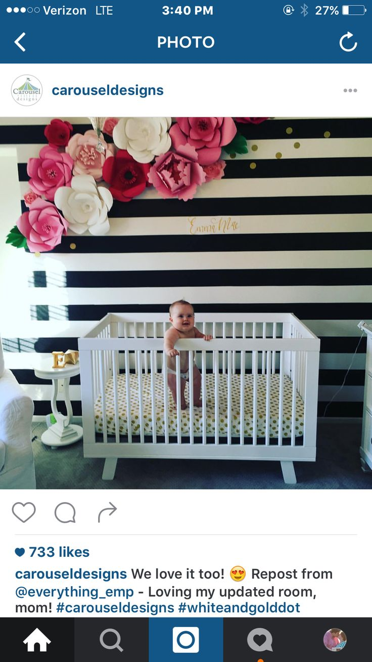 Love this nursery if we have a girl, but I do have a weakness for floral and stripes