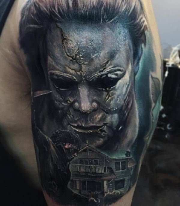 40 best horror part 03 images on pinterest horror tattoos incredible tattoos and 3d tattoos. Black Bedroom Furniture Sets. Home Design Ideas