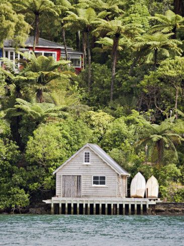 Bach with Boat Shed, Marlborough Sounds - one of countless holiday 'homes' tucked away.