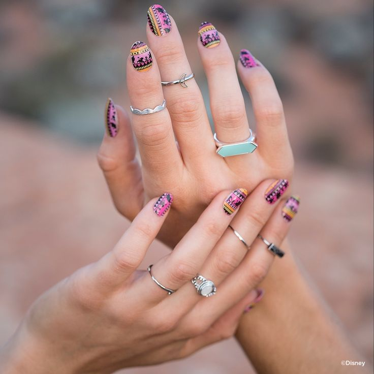 Featuring the iconic silhouettes of Disney #Simba, #Timon and #Pumbaa, this festival-inspired design, #HakunaMatataJN is sure to keep you worry free for the rest of your days. #Jamberry #LionKing #DisneyCollectionbyJamberry #nailwraps #diynails  https://jamwithalyssajo.jamberry.com/us/en/