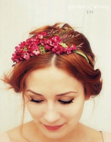 corona flores flower crown redhead red ginger hair girl chica pelirroja pelo peinado hairstyle recogido tied up photography fotografía miraquechulo