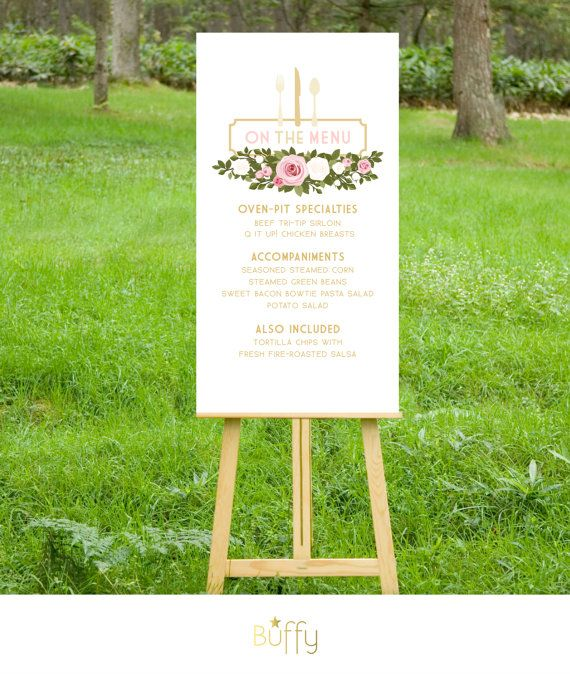 The FRANKIE. Menu Card or Large Sign. PRINT or by BuffyWeddings