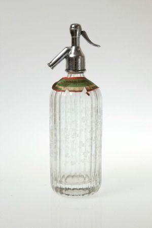 A vintage soda syphon bottle