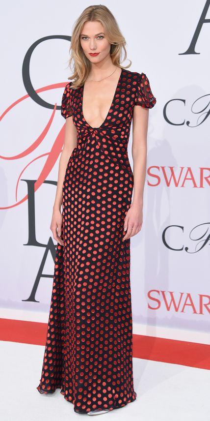 Karlie Kloss in Diane von Furstenberg - 2015 CFDA Fashion Awards in New York City. (June 2015)