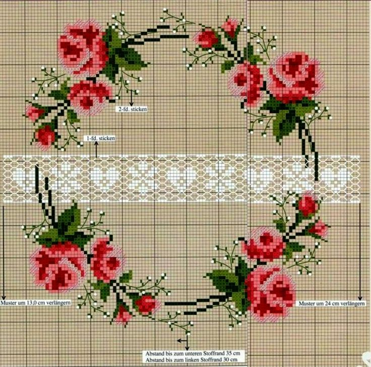 Rose, Cross Stitch