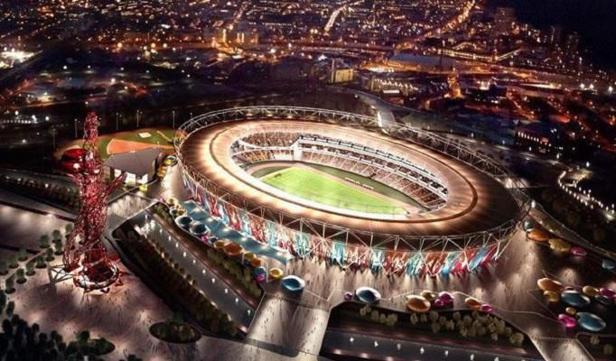 Venue ... an artist's impression of how the Olympic Stadium could look for a night game if West Ham move in