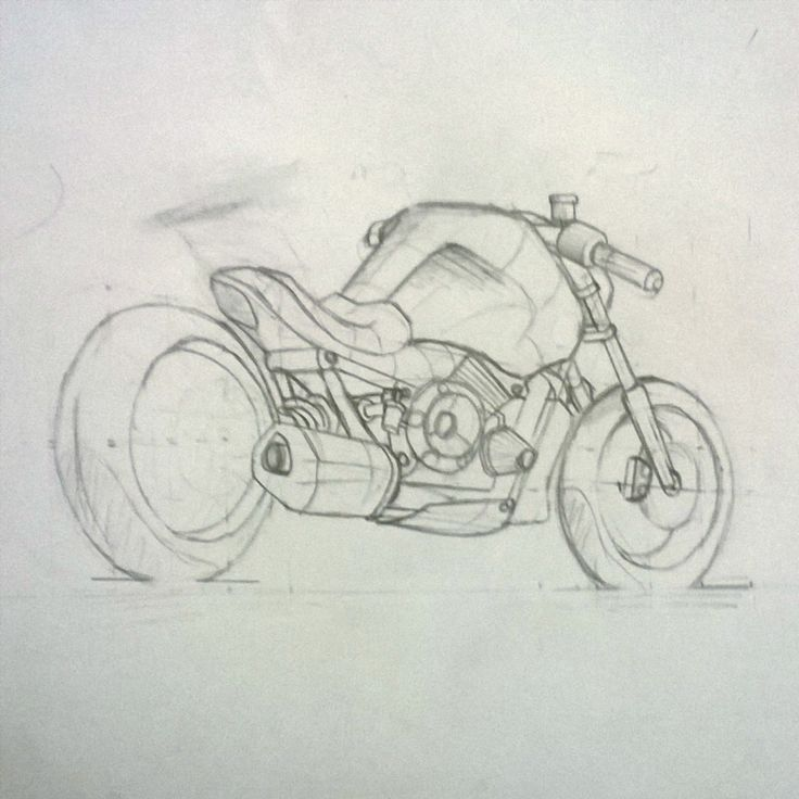 Sketching motorcycles