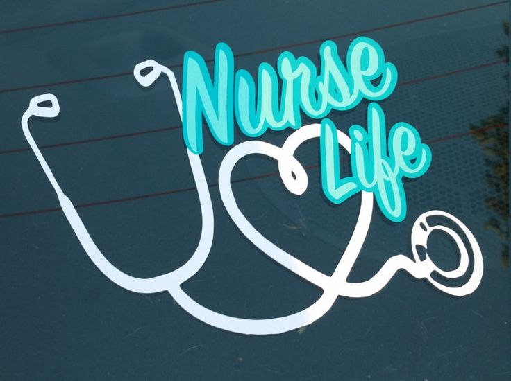Nurse Life Decal. Stethoscope Decal. Gift for Nursing Student. Gift for Nurse…