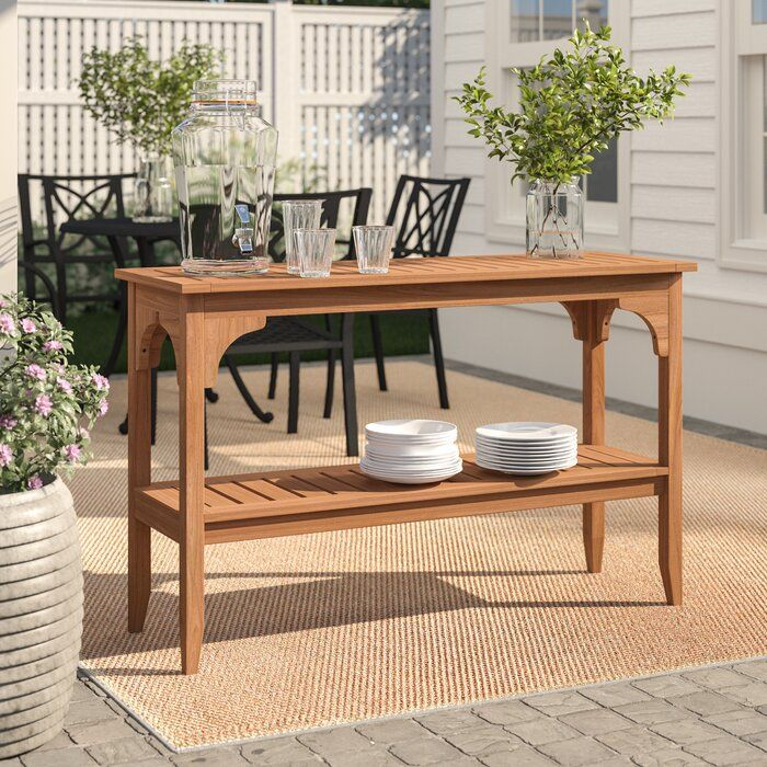 Designed to seat 6 to 8 diners. Birch Lane™ Heritage Summerton Teak Buffet & Console Table ...