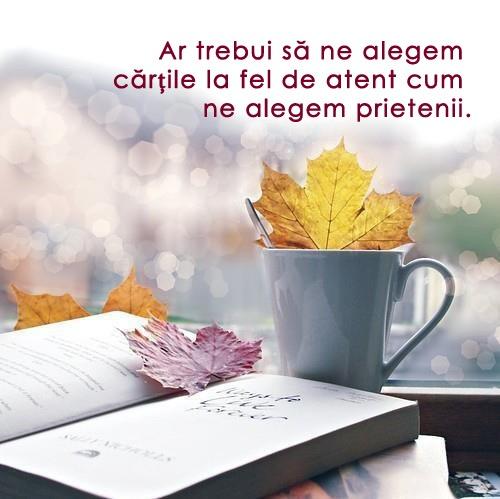 Ar trebui să ne alegem cărțile la fel de atent cum ne alegem prietenii. / Colaj de Ina Moroşanu