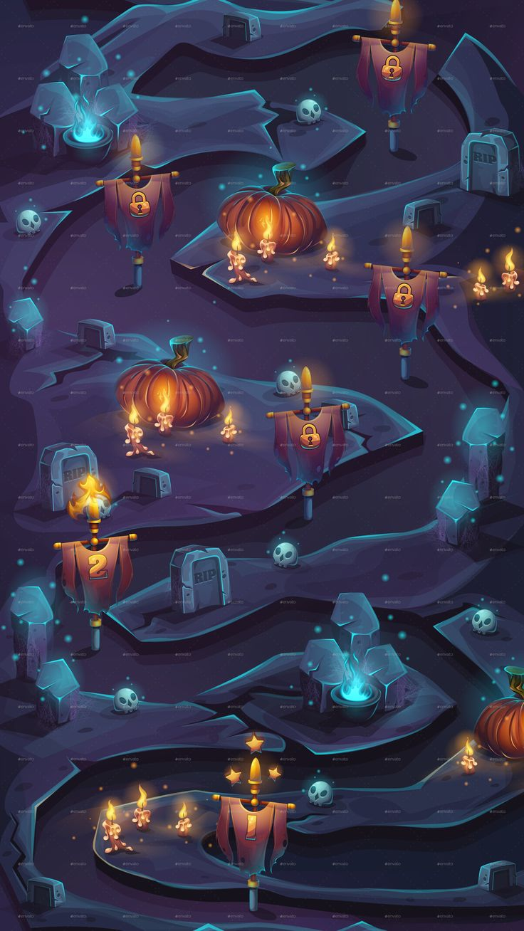 Night of the Dead Seamless Background Level Map Pixel