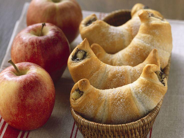 Mohn-Apfel-Hörnchen - Kalorien: 249 Kcal - Zeit: 40 Min. | eatsmarter.de