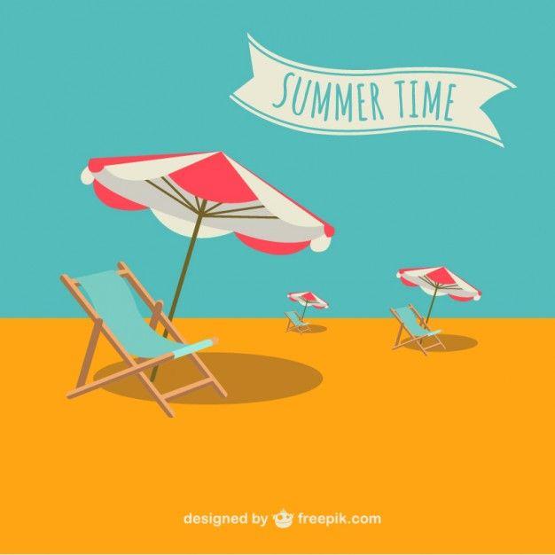 Summer vector holiday illustration Free Vector