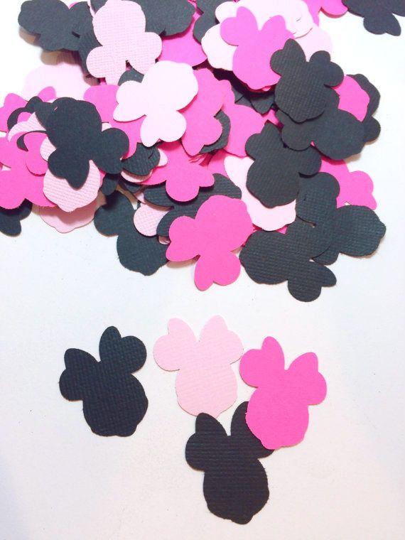 Confetti de Minnie Mouse  Cumpleaños de Minnie Mouse