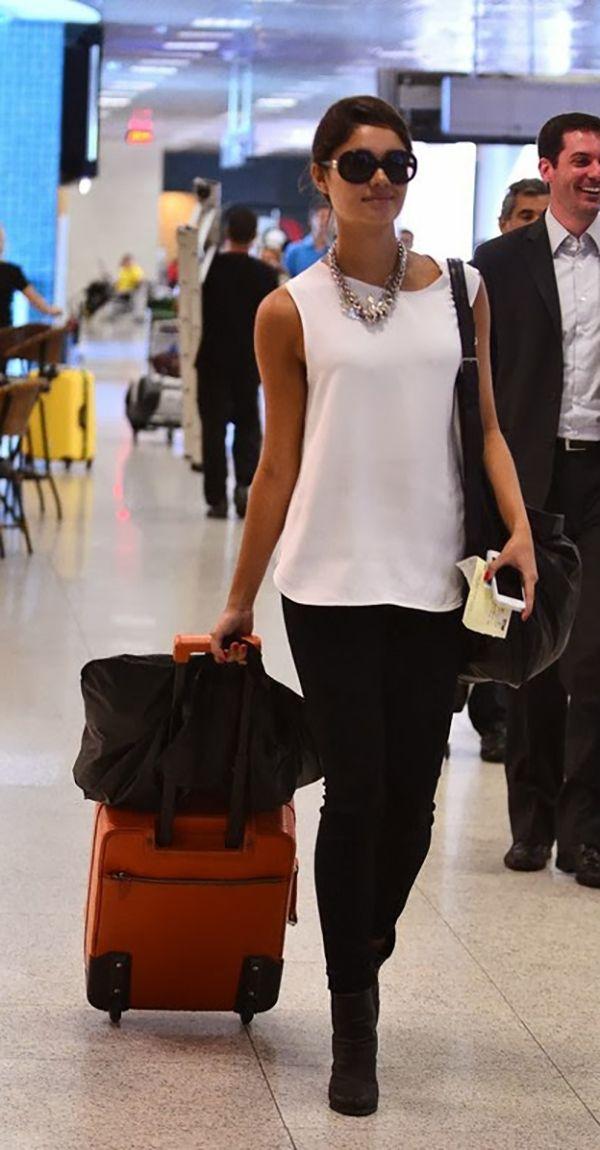 Sophie Charlotte look aeroporto