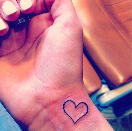 Small heart tattoo