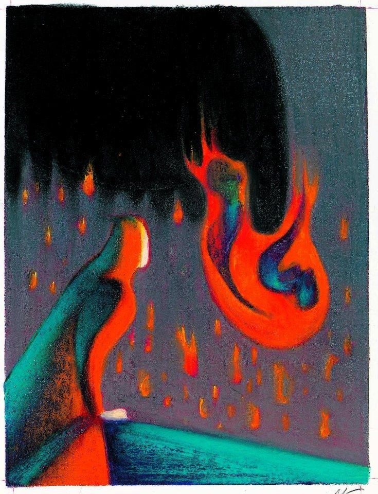 Lorenzo Mattotti illustra L'inferno (ed. Nuages 1999)