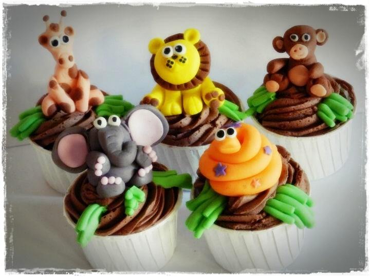 Cute Jungle Cupcakes by www.supacakes.co.za