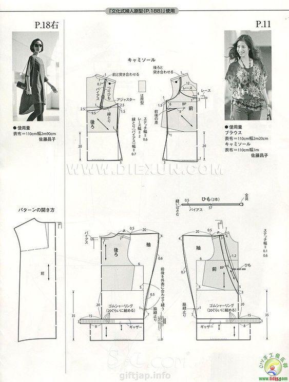 КРОЙ И ШИТЬЕ JAPAN MAGAZINE | cuello y escotes | Pinterest | Costura ...
