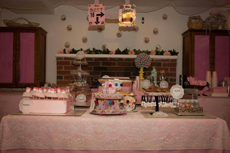Sweet sixteen party with 16 sweets....what could be better than that..