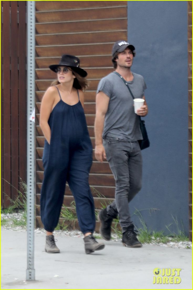 Ian Somerhalder & Pregnant Nikki Reed Go for a Lunch Date!