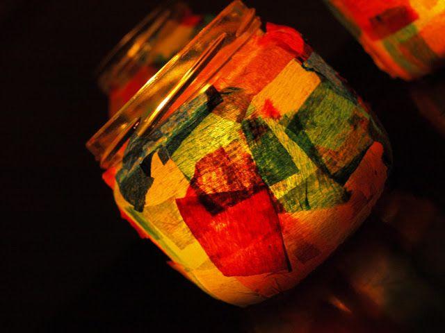 καρυδότσουφλο : Φαναράκια για το Πάσχα από παλιά βάζα!