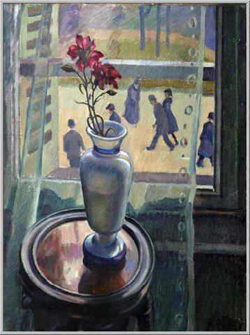 Mario Tozzi 1927: Finestra su Saint-Germain-des-Prés. Olio su Tela cm.64x48 - Collezione Privata Archivio numero 2245.