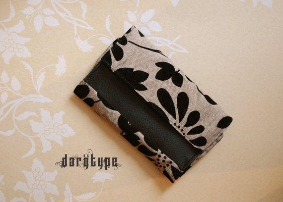 beige flower-patterned wallet