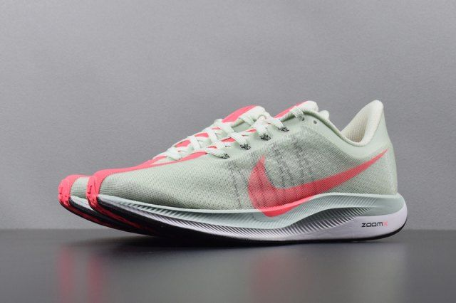 62cc466d6fe27 Nike Air Zoom Pegasus 35 Turbo 2. 0 Mint Green Red Unisex Running Shoes