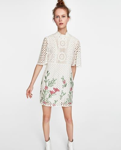 bfac09138ac Image 2 of EMBROIDERED LACE DRESS from Zara