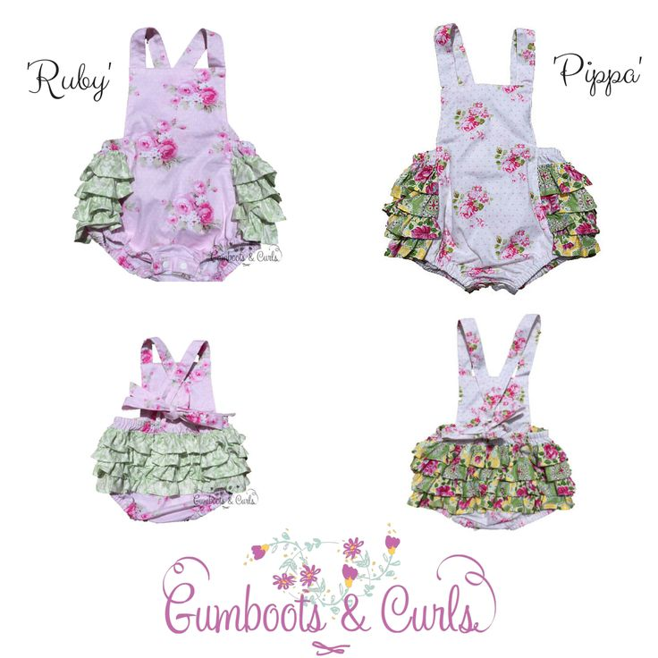 'Ruby & 'Pippa' Rompers Will be released on Wednesday 25th March 2015 http://www.gumbootsandcurls.com.au/collections/baby-girls-0-1-yrs