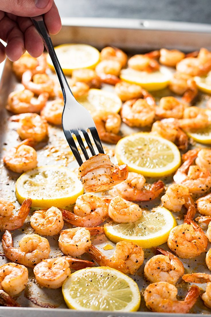 Sheet Pan Lemon Pepper Shrimp is delicious for dinner or a fun appetizer to share! It's packed with flavor, uses simple ingredients and ready in 10 minutes!