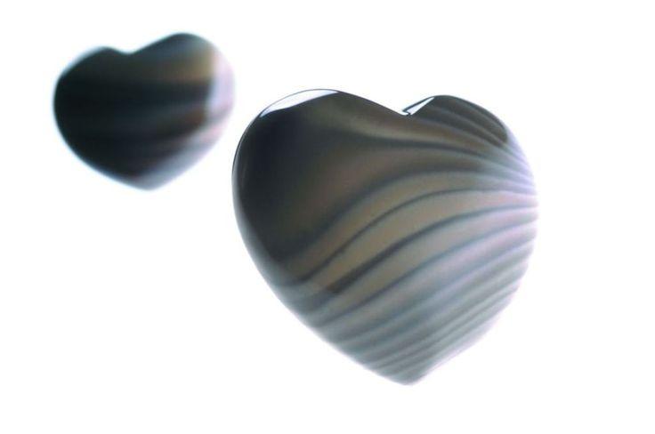 heart-shaped striped flint