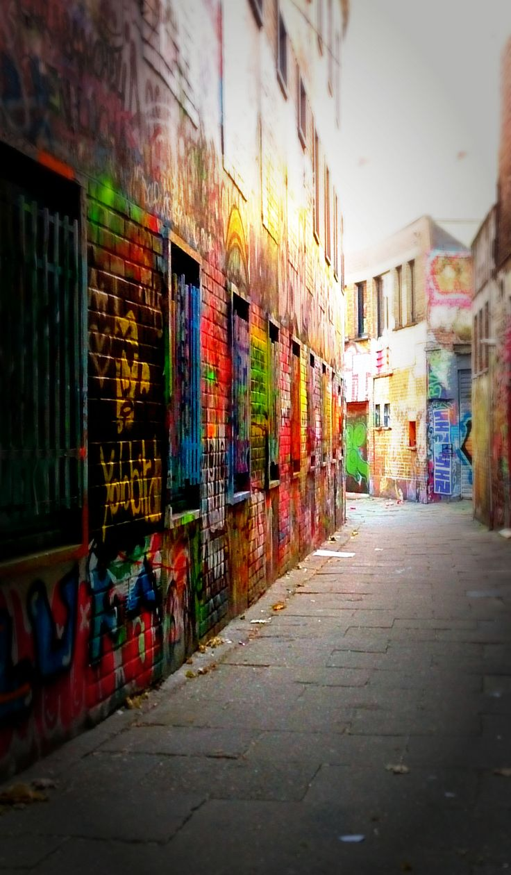 Graffitistraße in Gent, Belgien cityseacountry.com/de