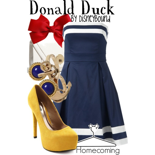 """Donald Duck"" by lalakay on Polyvore #disney: Sailors Outfits, Disney Outfits, Donald O'Connor, Donald Ducks, Disney Inspiration, Disneybound, Disney Bound, The Dresses, Disney Fashion"