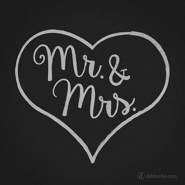 Mr. & Mrs. > Frases de amor para bodas. Inspirate con estos diseños exclusivos, descargalos gratis y aplicalos en donde más te guste! ► DESCARGAR GRATIS en alta calidad