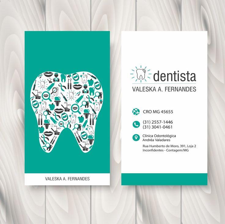 CARTÃO DE VISITA - 2016 - Dentista Valeska A. Fernandes