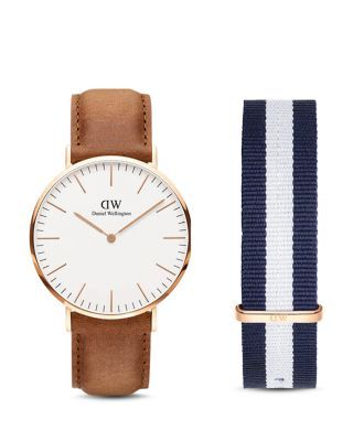 04e802f5f87ba9 Daniel Wellington Classic Durham Watch, 40mm with NATO Strap Gift Set    Bloomingdale's