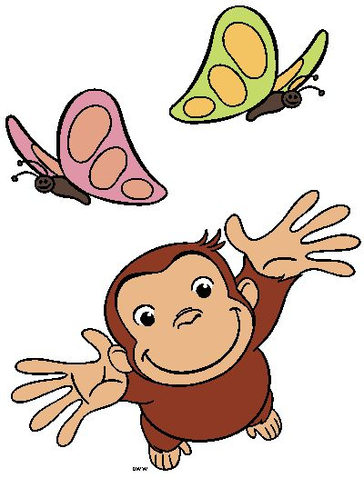 Curious George Clipart - Cartoon Characters Images - The Man in ...