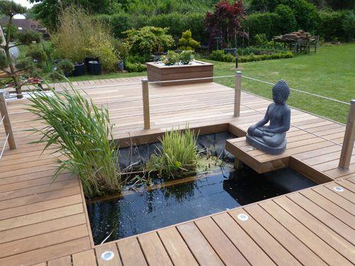 67 best terrasse images on Pinterest Backyard ideas, Balconies and - amenagement jardin avec spa